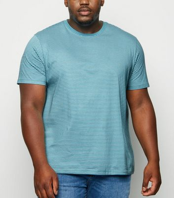 Plus Size Blue Stripe Short Sleeve T-Shirt