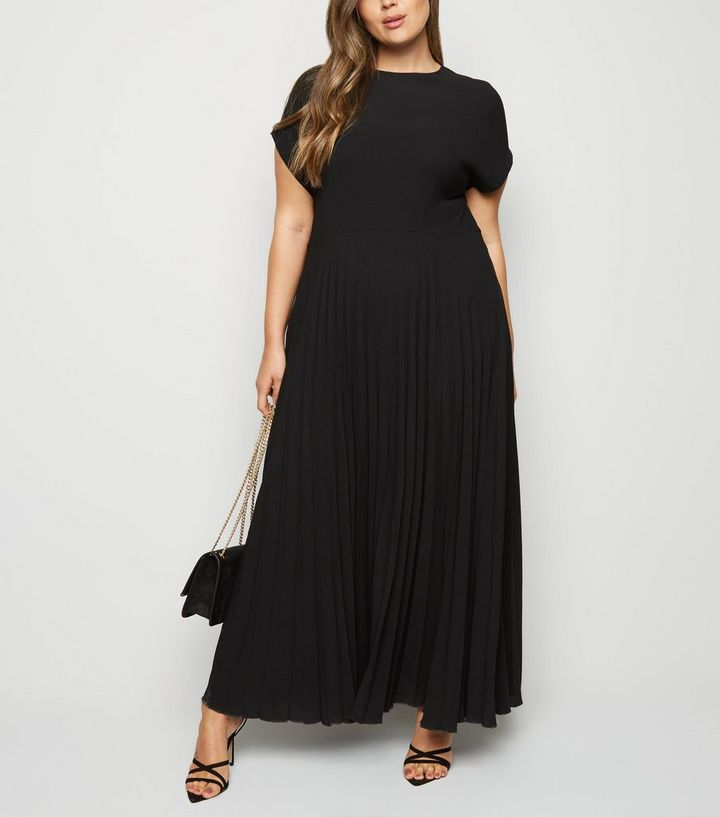 fashionablestyle double coupon where to buy Curves Black Pleated Maxi Dress Add to Saved Items Remove from Saved Items