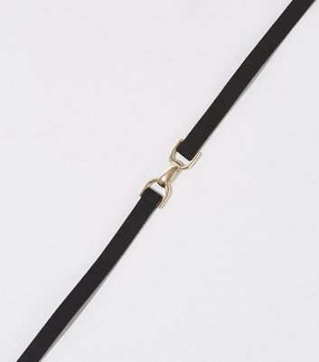 Black Suedette Bar Choker
