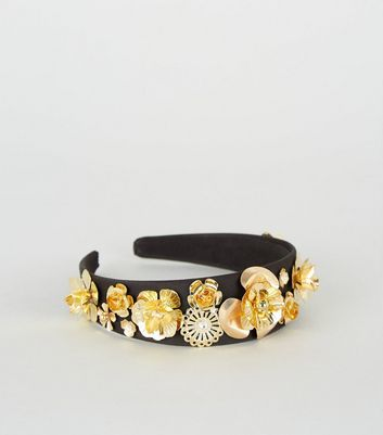 Gold Flower Alice Band