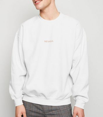 Stone Nevada Oversized Slogan Sweatshirt