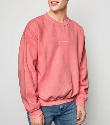 Mid Pink If You Know You Know Slogan Sweatshirt