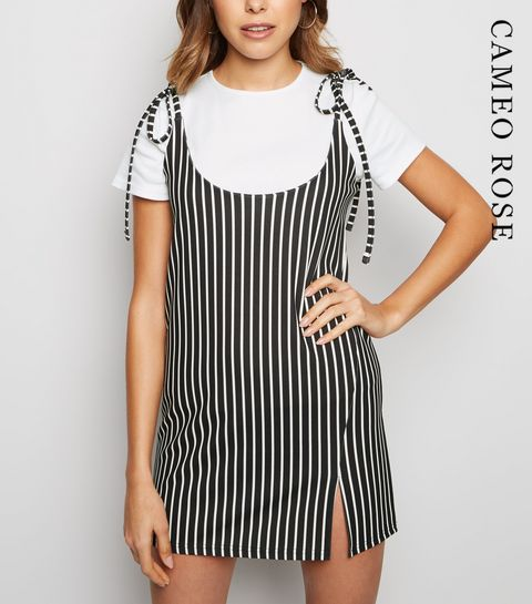 6280223388d ... Cameo Rose Black Stripe 2 in 1 Dress ...