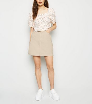 Stone 5 Pocket Corduroy Mini Skirt