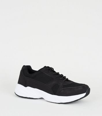 Black Chunky Sole Trainers | New Look