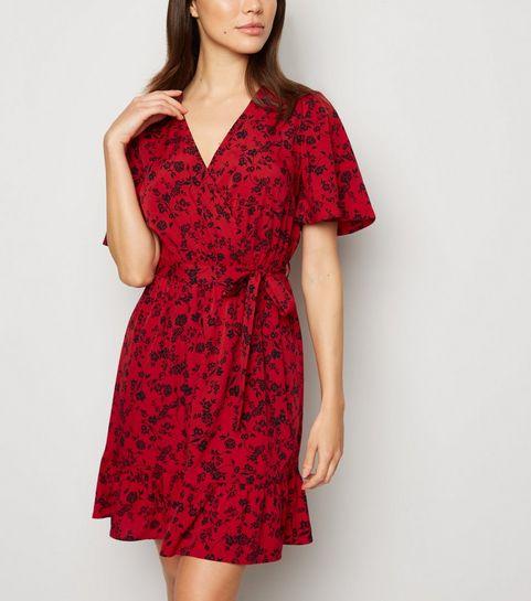 ace3223d3f Wrap Dresses   Long Sleeve, Velvet & Midi Wrap Dresses   New Look