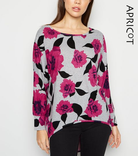 4e4226cfe183 Apricot Pink Floral Batwing Jumper · Apricot Pink Floral Batwing Jumper ...