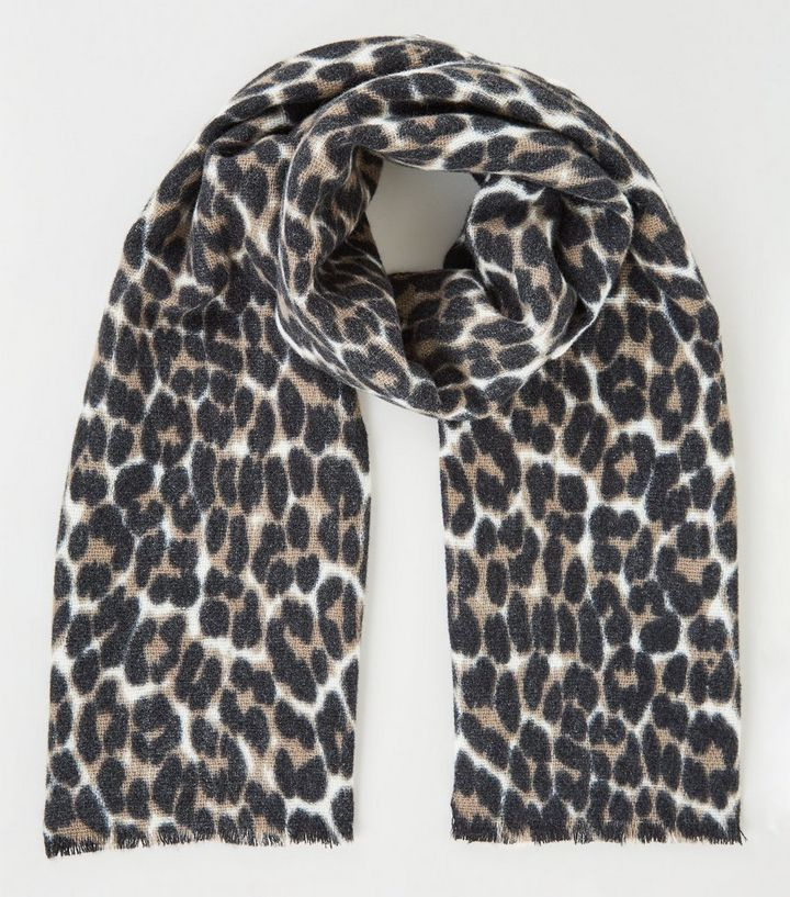 cebff6c16c9 Black Leopard Print Scarf Add to Saved Items Remove from Saved Items