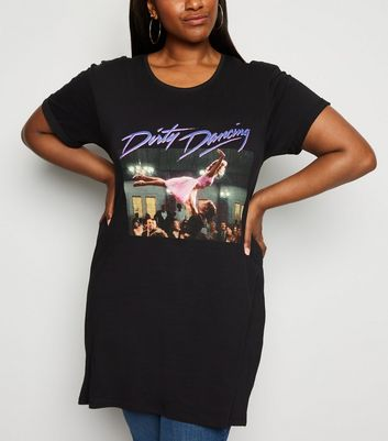 Curves - T-shirt noir à logo Dirty Dancing