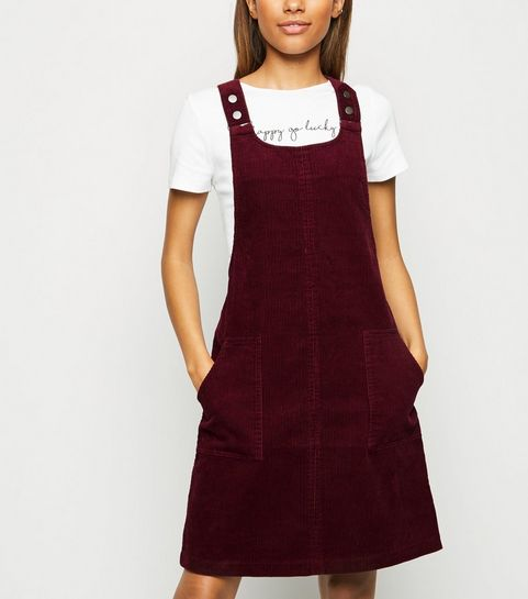 8b6a601fc564 Burgundy Corduroy Pinafore Dress · Burgundy Corduroy Pinafore Dress ...