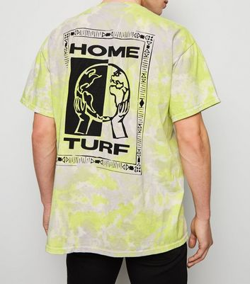 Light Green Tie Dye Globe Print T-Shirt