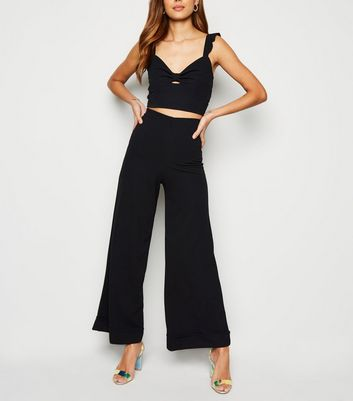 Innocence Black Wide Leg Trousers