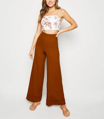 Innocence Rust Wide Leg Trousers