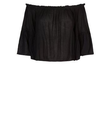 Brave Soul Black Bardot Blouse New Look