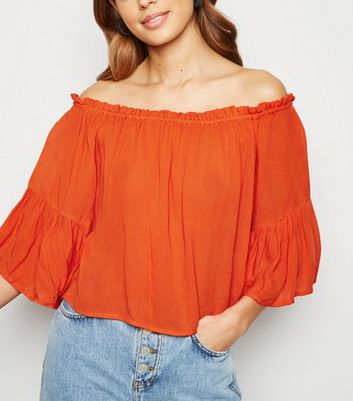 Brave Soul Red Bardot Blouse