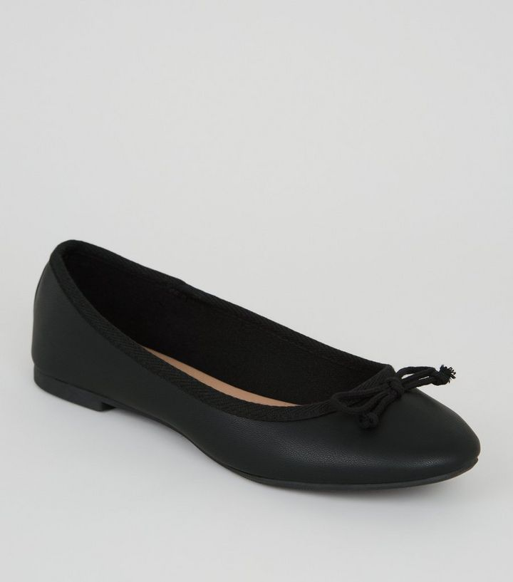 f805029ab1f Girls Black Leather-Look Ballet Pumps Add to Saved Items Remove from Saved  Items