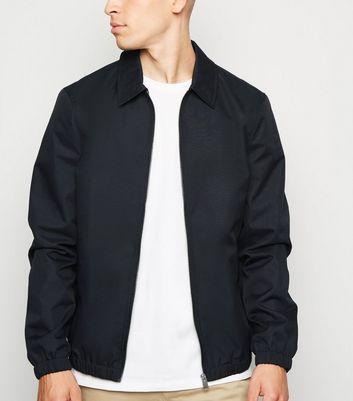 Navy Collared Harrington Jacket by New Look