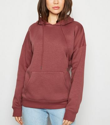 Deep Pink Relaxed Fit Hoodie