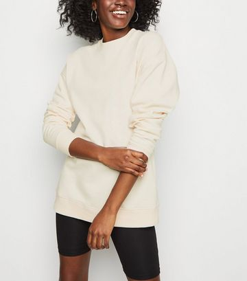 Cream Crew Neck Brushed Sweatshirt