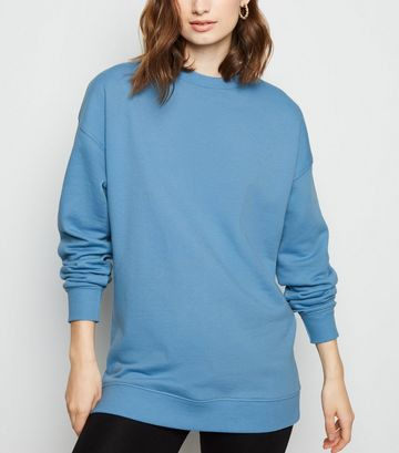 Pale Blue Crew Neck Brushed Sweatshirt