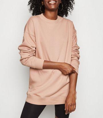Mid Pink Crew Neck Brushed Sweatshirt