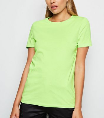 Green Neon Cotton T-Shirt