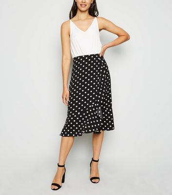 AX Paris Off White Polka Dot 2 in 1 Midi Dress