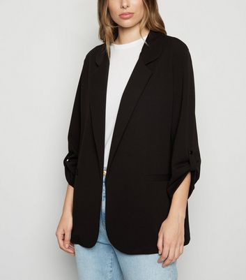 Black Collared Scuba Blazer
