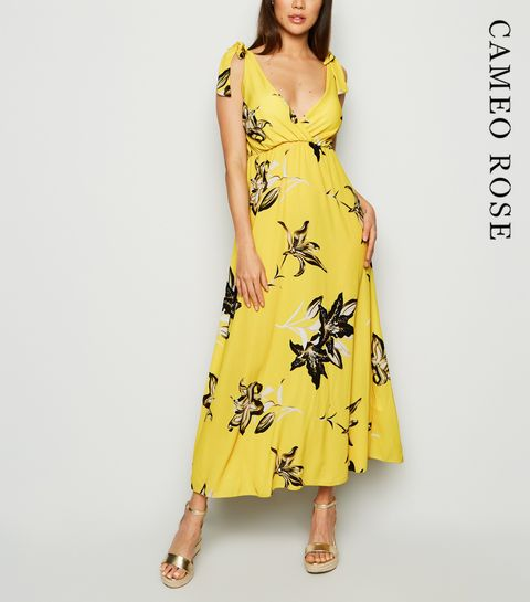 8ba50984 ... Cameo Rose Yellow Floral Bustier Midi Dress ...
