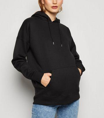 Maternity Black Long Sleeve Hoodie