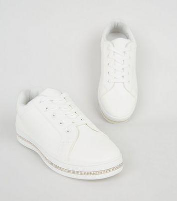 weiße damen sneaker mit strass