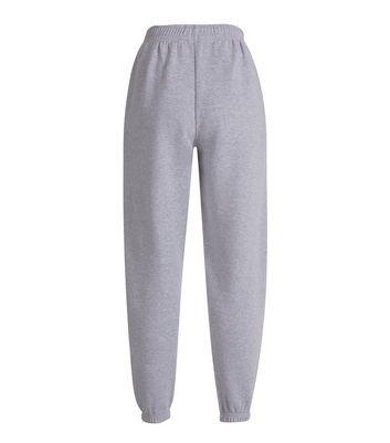 Grey Cuffed Joggers New Look
