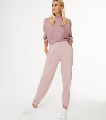 Pale Pink Cuffed Joggers New Look