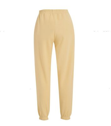 Pale Yellow Cuffed Joggers New Look