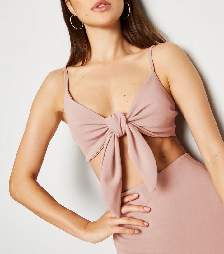 641e384df4c9 ... Pink Crepe Tie Front Crop Top. ×. ×. ×. Shop the look