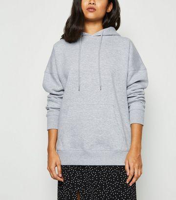 Petite Grey Jersey Hoodie