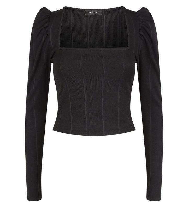 ed0c75b3 ... Black Ribbed Bandage Long Sleeve Top. ×. ×. ×. Shop the look