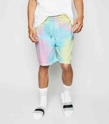 Multicoloured Tie Dye Jersey Shorts