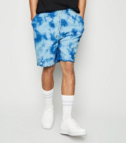 dde4db7fbe ... Bright Blue Tie Dye Jersey Shorts ...