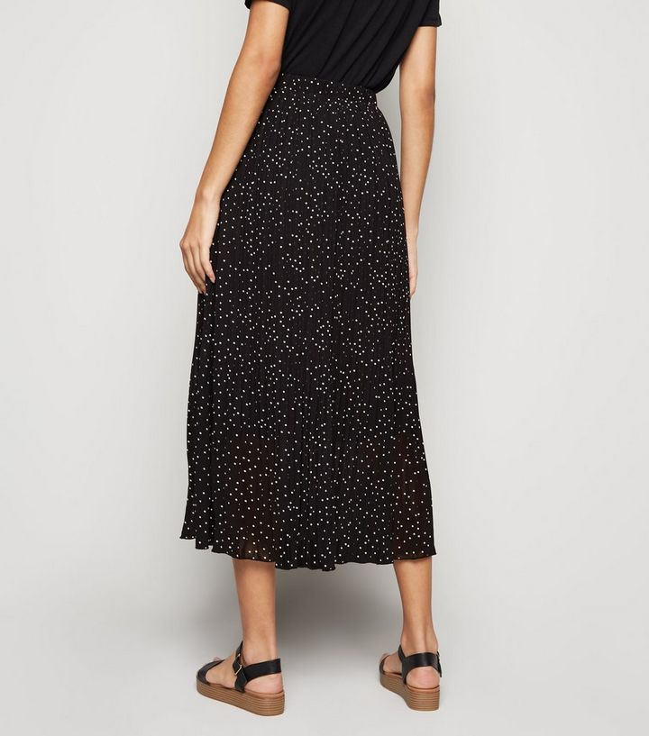 d4bb17a8a3dd ... Black Spot Print Pleated Midi Skirt. ×. ×. ×. Shop the look