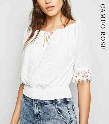 cda915ee0819c8 Bardot Tops | Off The Shoulder Tops | New Look
