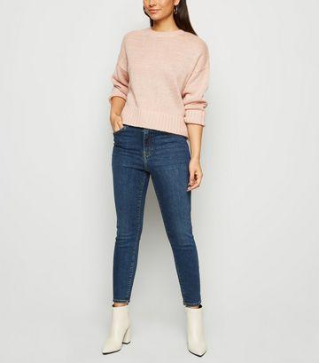 Petite Blue 'Lift & Shape' Skinny Jeans