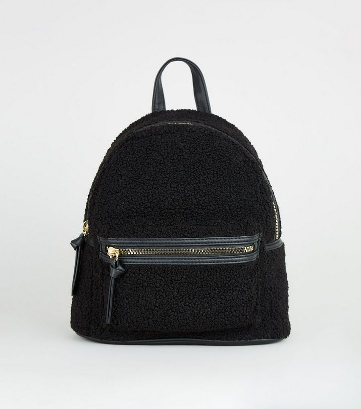 footwear new products for new style of 2019 Black Teddy Mini Backpack | New Look