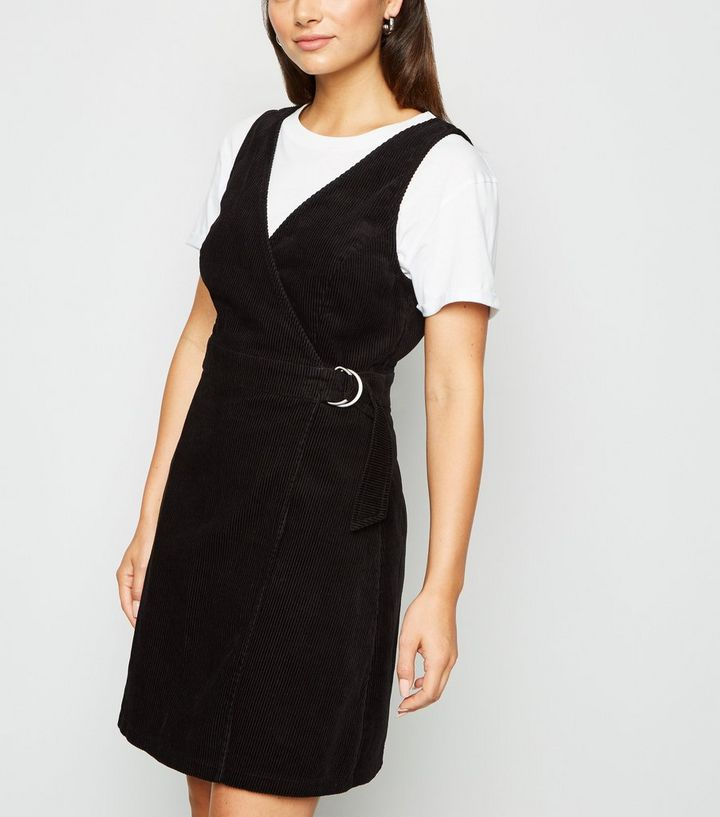 innovative design official store elegant shoes Petite Black Cord Wrap Pinafore Dress Add to Saved Items Remove from Saved  Items