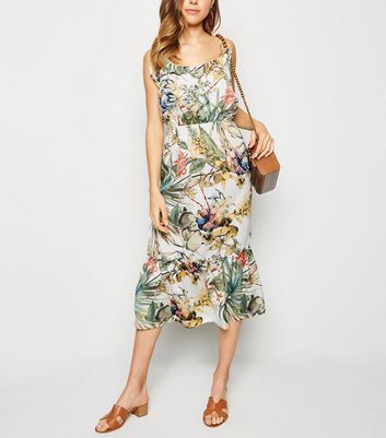 Urban Bliss Multicoloured Floral Tiered Midi Dress