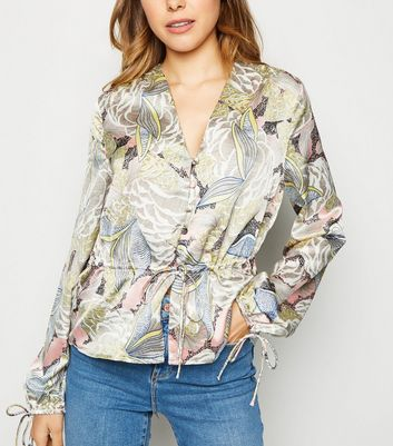 Urban Bliss Multicoloured Floral Peplum Top by New Look