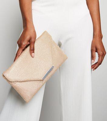 shop for Rose Gold Diamanté Clutch New Look at Shopo
