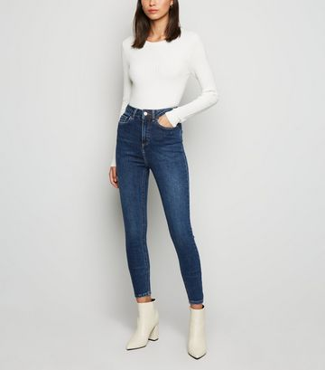 Blue Rinse Wash Super Skinny Hallie Jeans