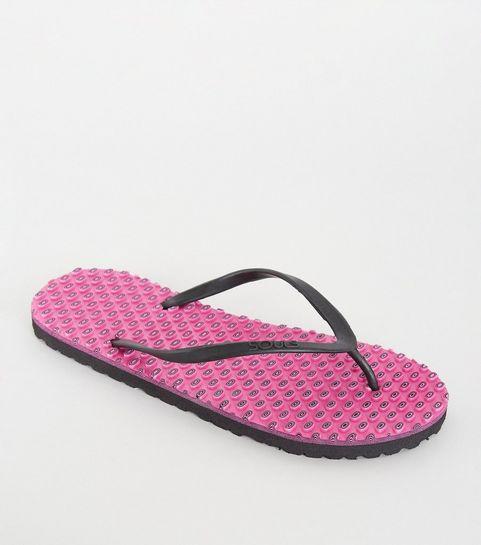 af7fae736c7930 ... Souls Bright Pink Massage Sole Flip Flops ...