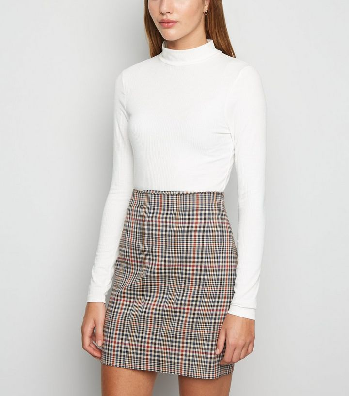 bottom price enjoy big discount quality and quantity assured Off White Check Mini Skirt Add to Saved Items Remove from Saved Items
